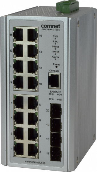 MAN SWITCH 16X 1000TX 4X 100/1000FX SFP