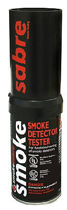 SmokeSabre smoke detector test gas